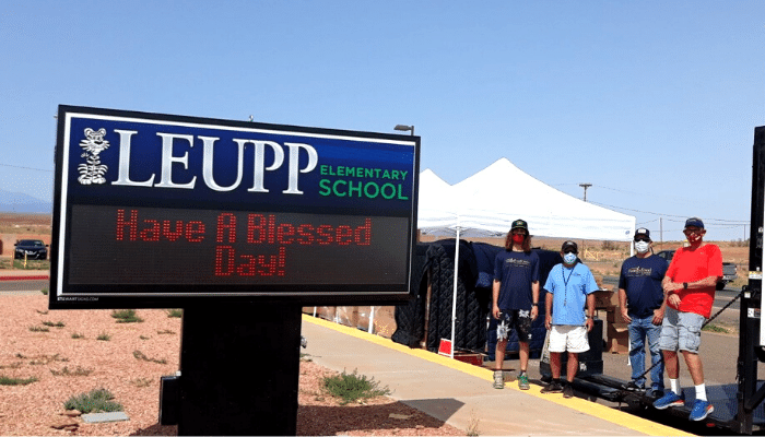 NCGH donates to Leupp reservation school