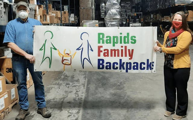 NCGH Donates to Rapids Family Backpacks